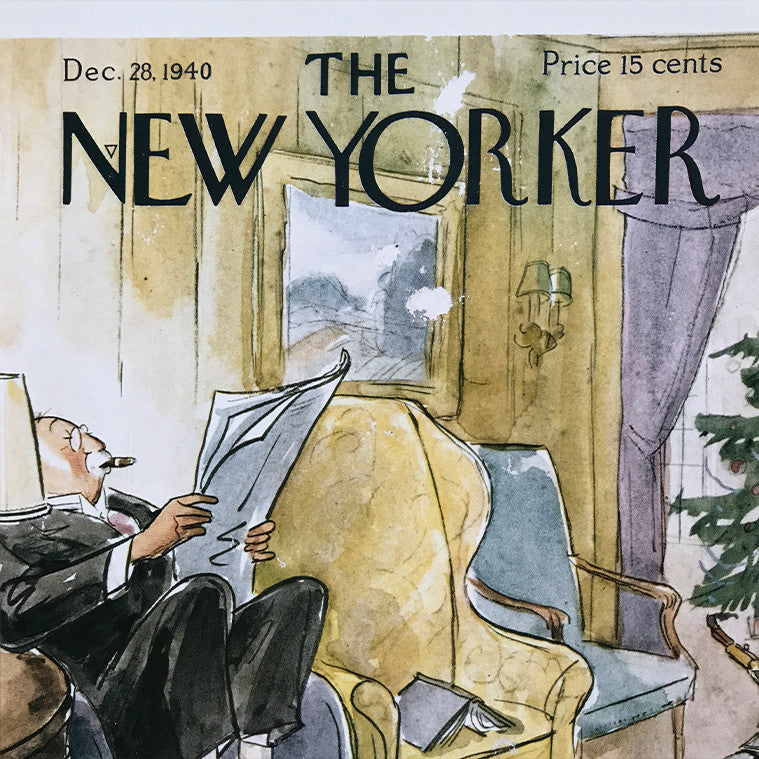 The New Yorker Cover Print Dec 1940