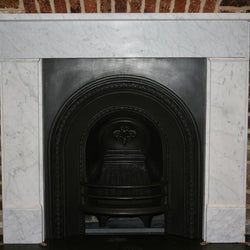 Victorian Style Carrara marble fireplace