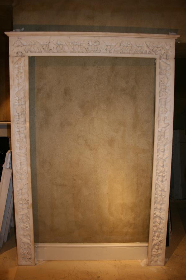 Antique Carved Marble Door Surround - architectural-forum