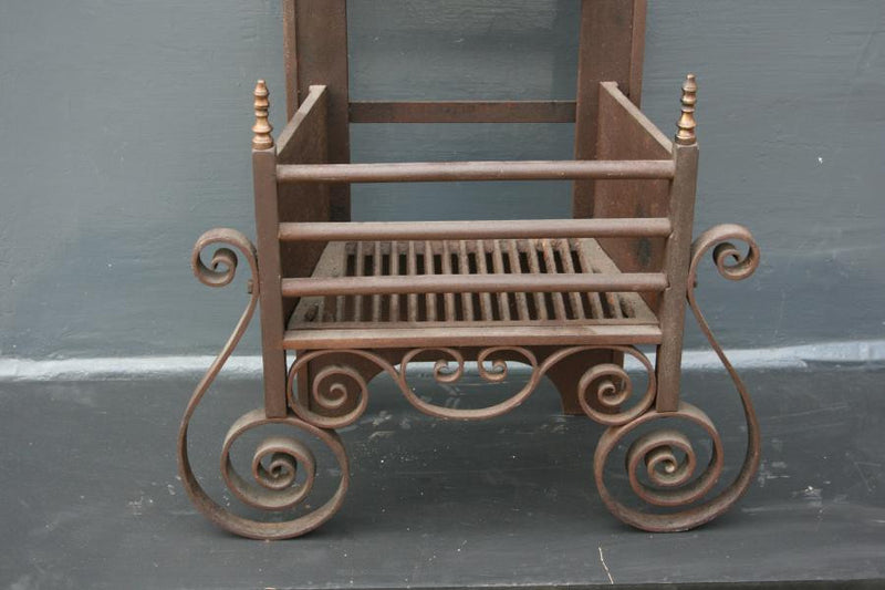Antique Cast Iron Fire Basket - The Architectural Forum
