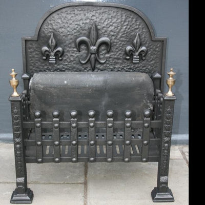 Reclaimed Iron Fire Basket - architectural-forum