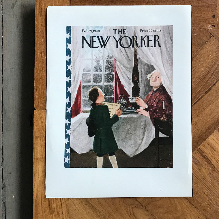 The New Yorker Cover Print February 1948