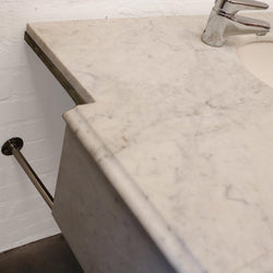 chrome and marble antique sink