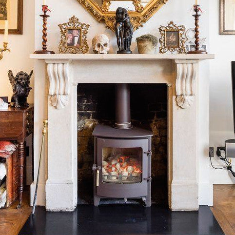 Black Slate Hearth - architectural-forum