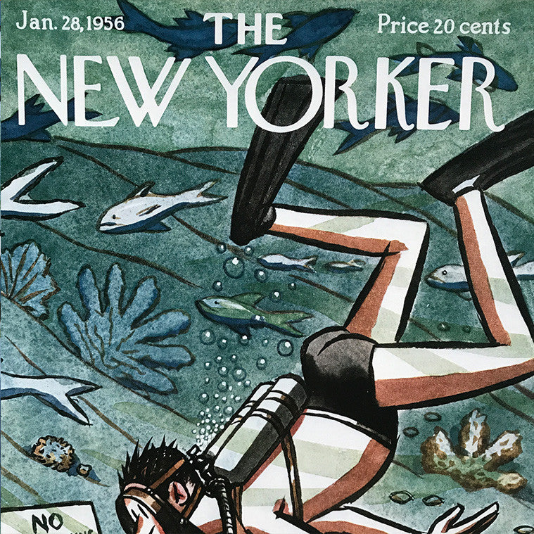 The New Yorker Cover Print January 1956
