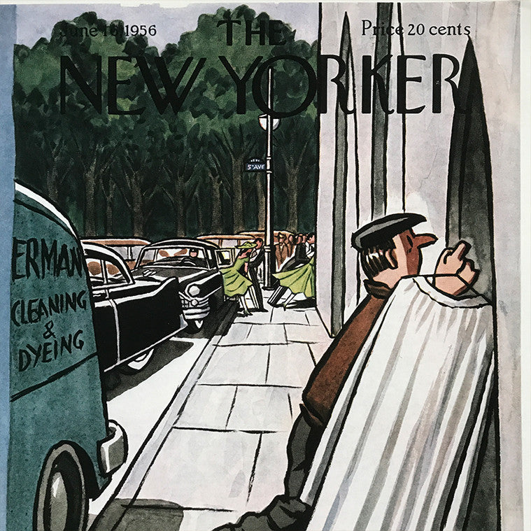 The New Yorker cover print created by Peter Arno June 16 1956
