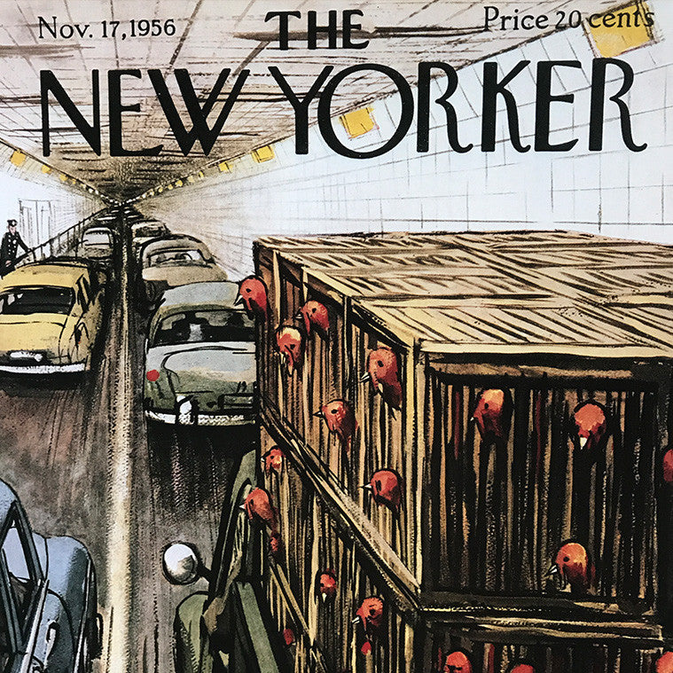 The New Yorker cover print created by Perry Barlow November 17 1956