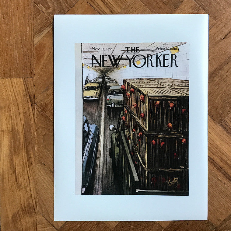 The New Yorker Cover Print Nov 1956