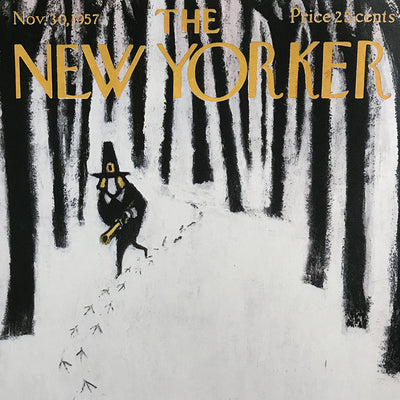 The New Yorker Cover Print November 1957 - architectural-forum