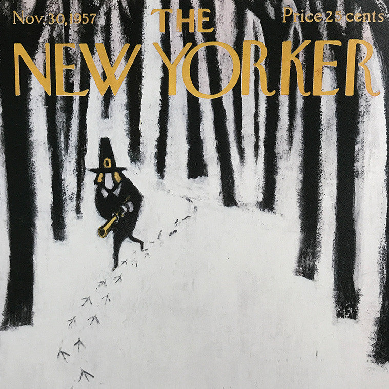 The New Yorker Cover Print November 1957