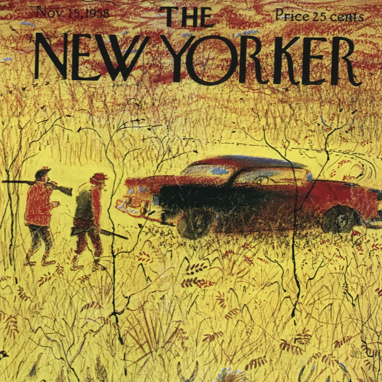 The New Yorker Cover Print November 1958