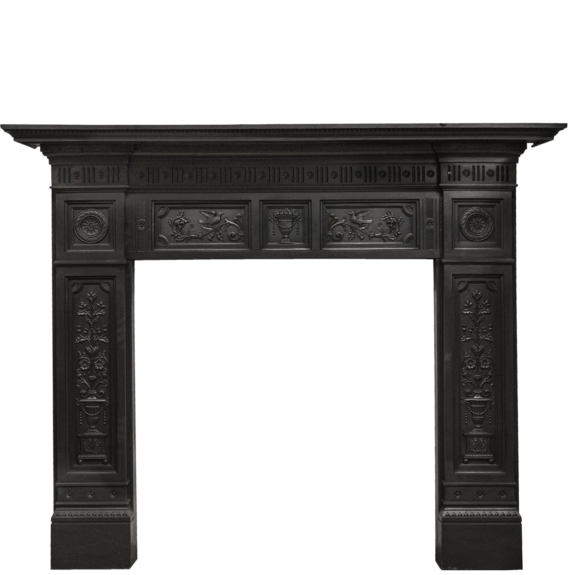 Antique Victorian Cast Iron Fireplace Surround | The Architectural Forum