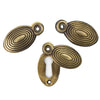 Reclaimed Solid Brass Beehive Escutcheon