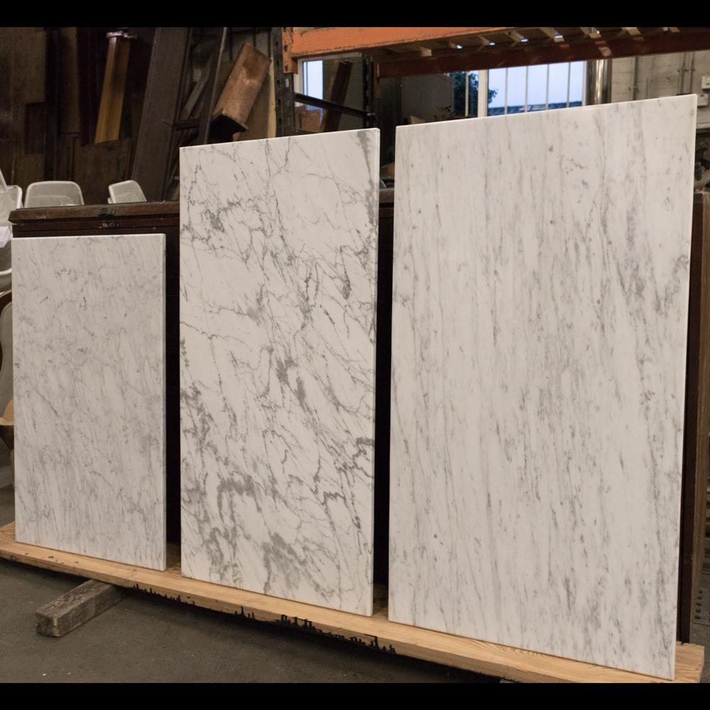 Reclaimed Carrara White Marble Table Tops / Slabs | The Architectural Forum