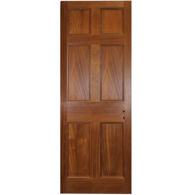 Reclaimed Mahogany Georgian Style Door - 197cm x 75.5cm