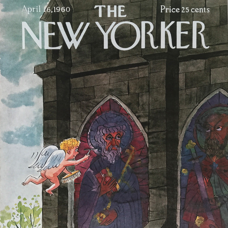The New Yorker cover print created by Charles Addams April 16 1960