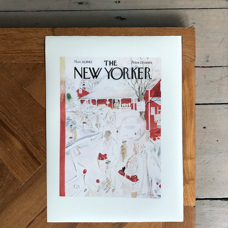The New Yorker Cover Print November 1962