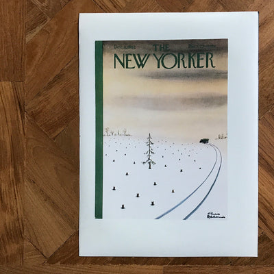 The New Yorker Cover Print December 1962 - architectural-forum
