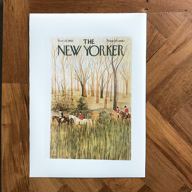 The New Yorker Cover Print November 1963