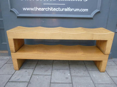 Solid ash benches