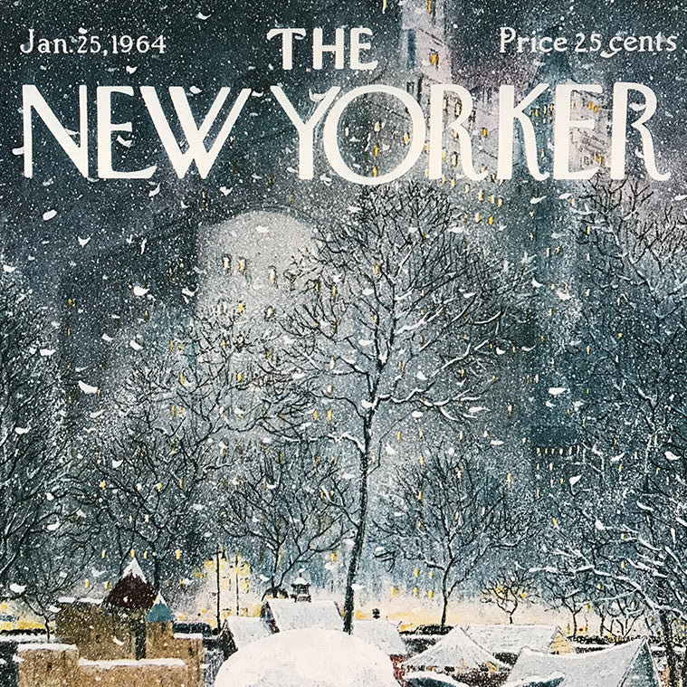 The New Yorker Cover Print January 1964