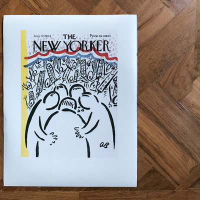 The New Yorker cover print created by Abe Bimbaum August 22 1964