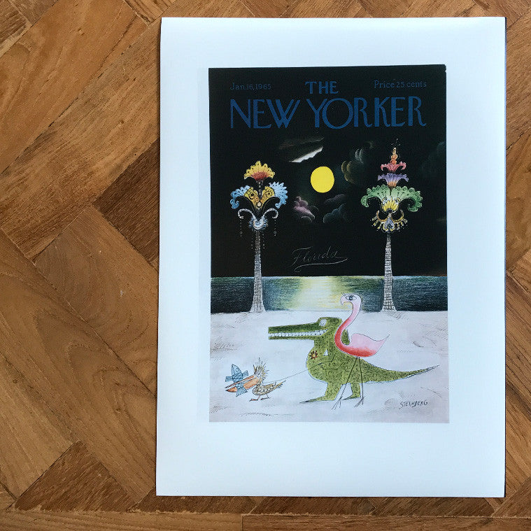 The New Yorker Cover Print January 1965 | The Architectural Forum