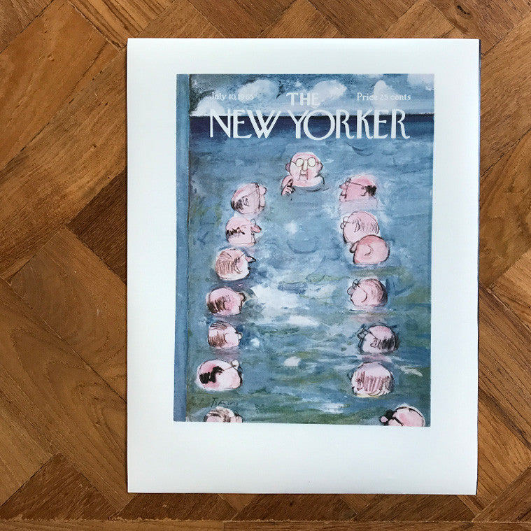 The New Yorker Cover Print July 10 1965