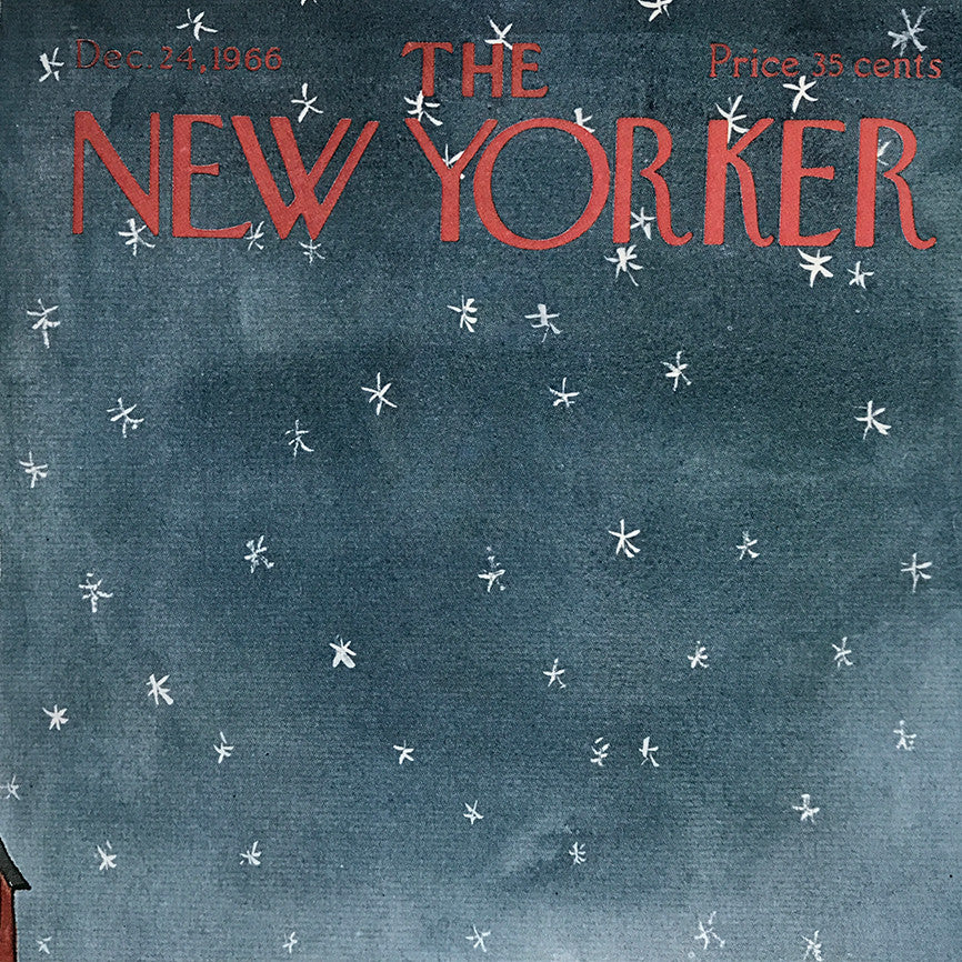 The New Yorker Cover Print December 24 1966
