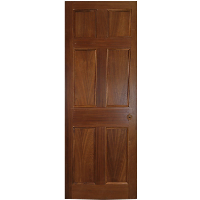Reclaimed Mahogany Georgian Style Door - 199cm x 75.5cm - architectural-forum