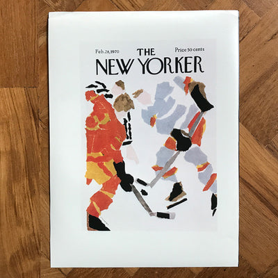 The New Yorker cover print created by James Stevenson - February 28 1970