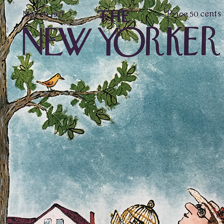 The New Yorker Cover Print May 1971