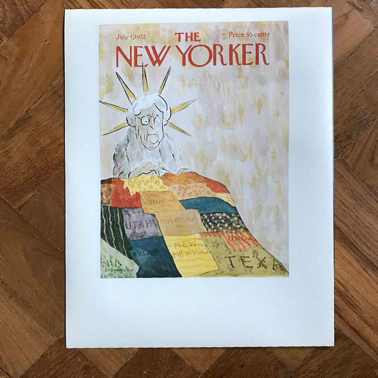 The New Yorker Cover Print July 1 1972