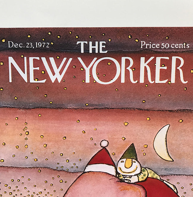 The New Yorker Cover Print December 1972
