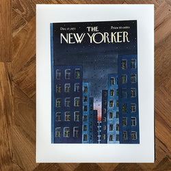 The New Yorker cover print created by Jean-Michel Folon December 17 1973