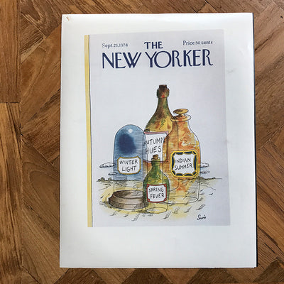 The New Yorker cover print created by Jean-Claude Suares