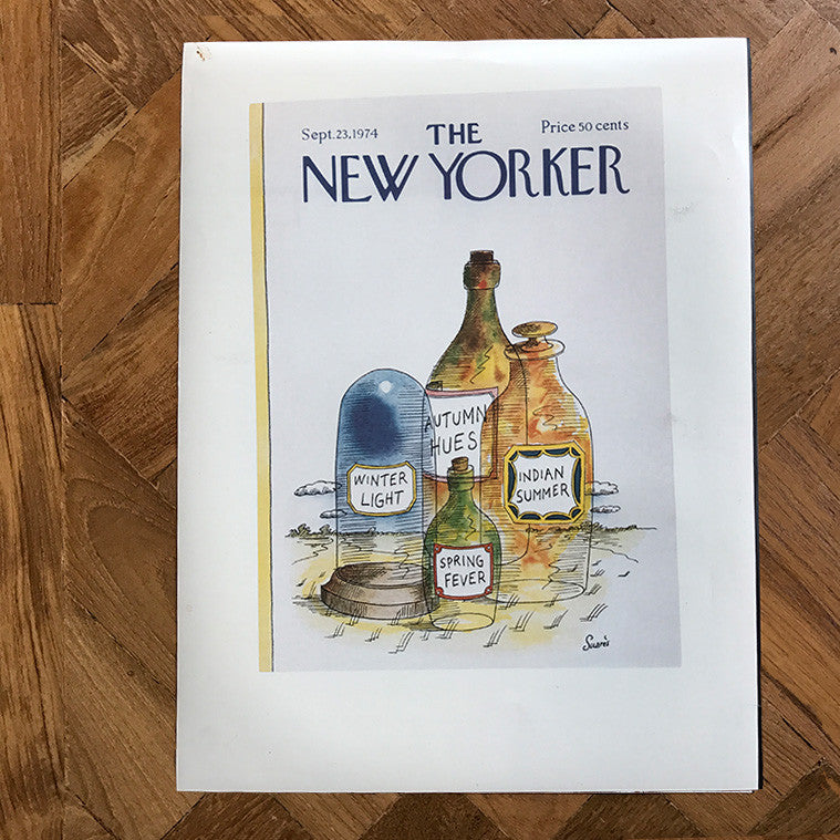 The New Yorker Cover Print September 1974