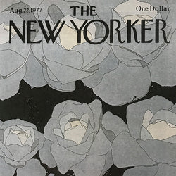 The New Yorker cover print created by Gretchen Dow Simpson  February 28 1977