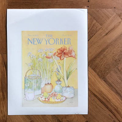 The New Yorker cover print created by Jenni Oliver December 27 1982