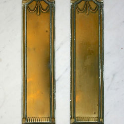 Regency style brass fingerplates
