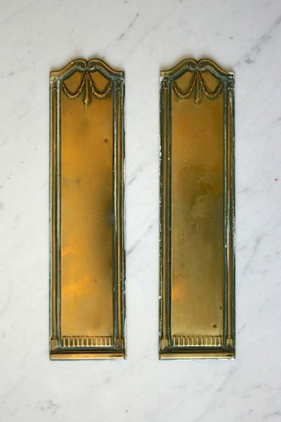 Regency Style Brass Finger Plates - architectural-forum