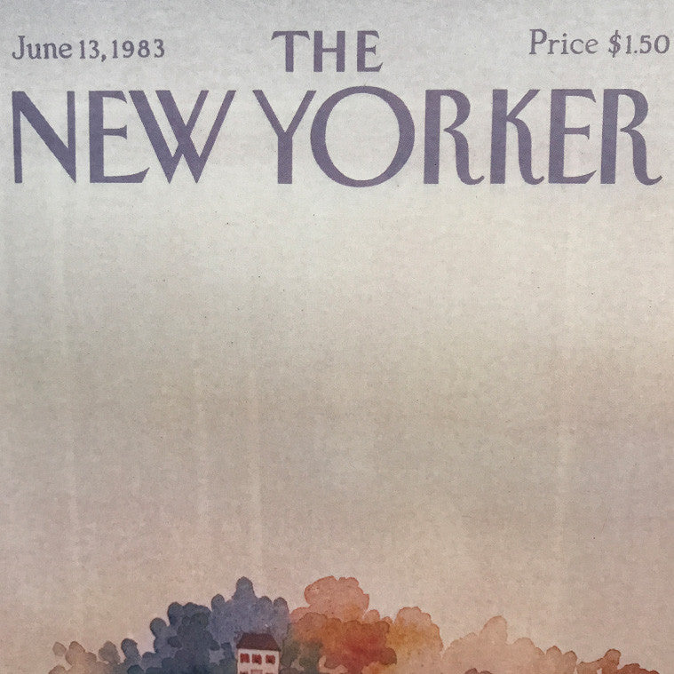The New Yorker Cover Print June 1983