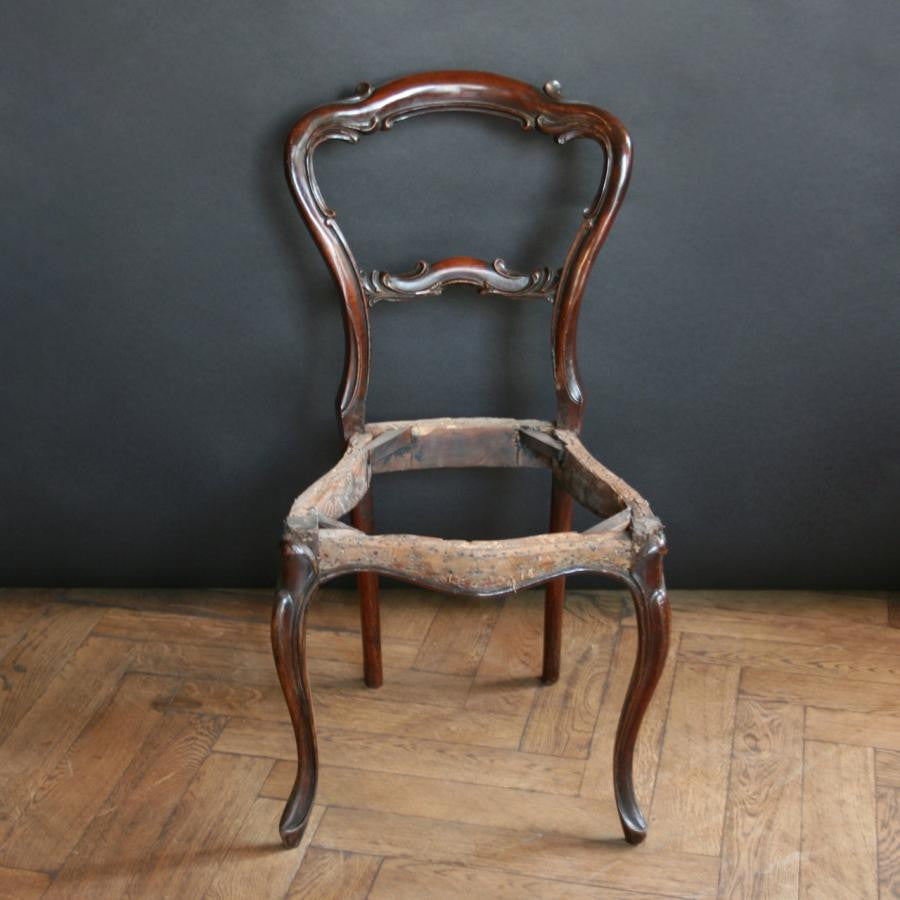 Antique Victorian Rosewood Chair Bases