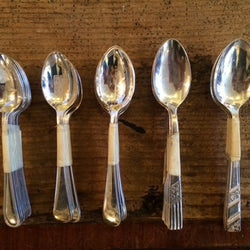 Silver-plated spoons