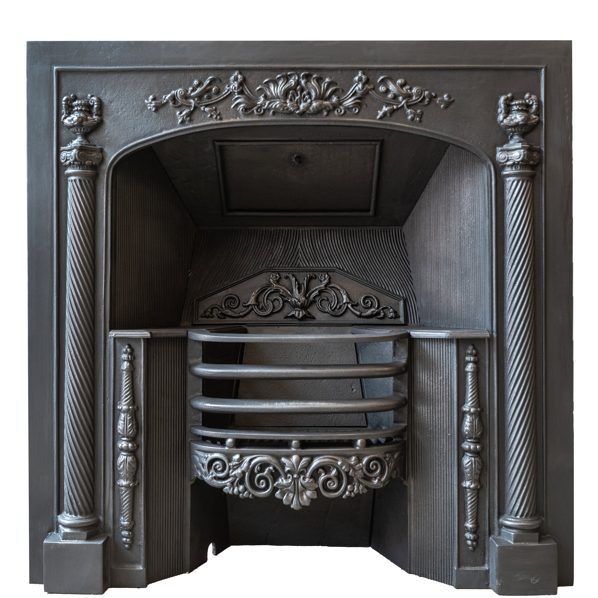 Reclaimed Ornate Georgian Regency Style Cast Iron Hob Grate (2 available) | The Architectural Forum