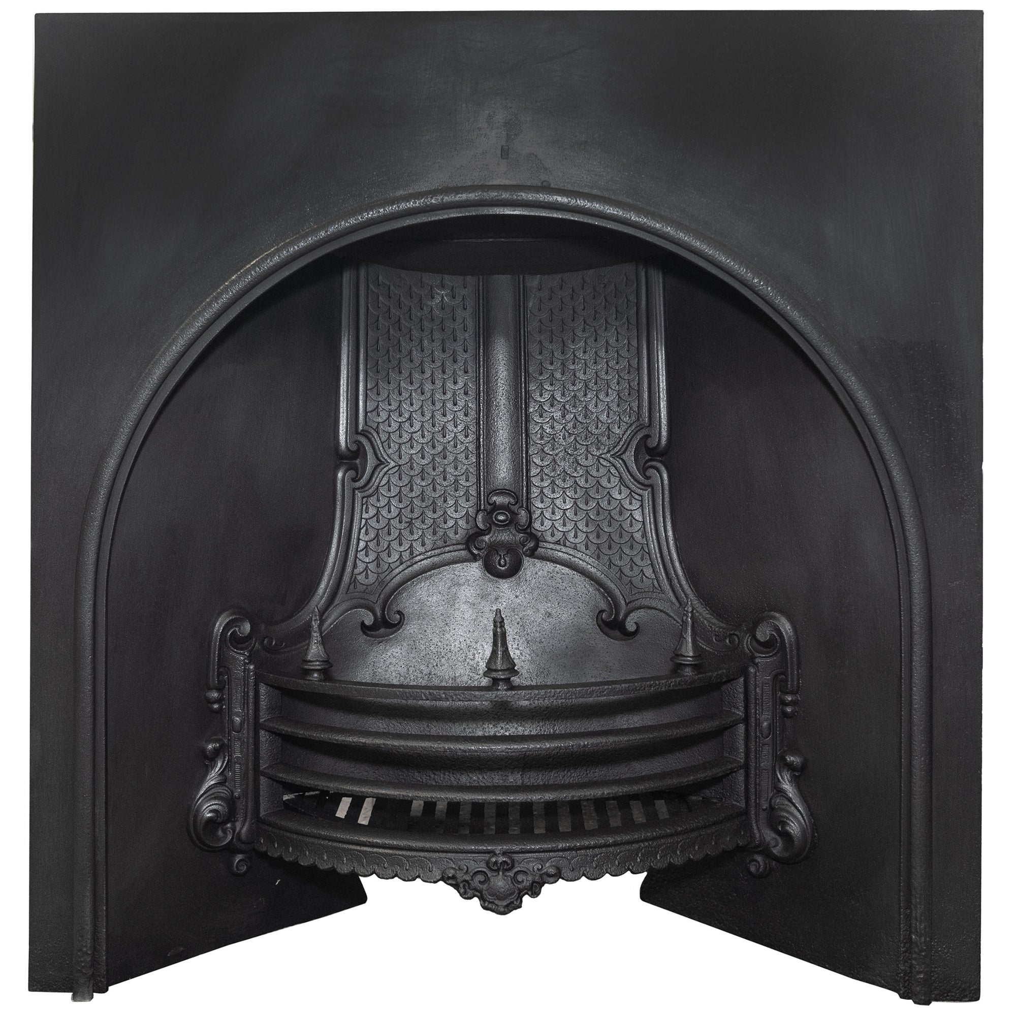 Antique Victorian Cast Iron Fireplace Insert - architectural-forum