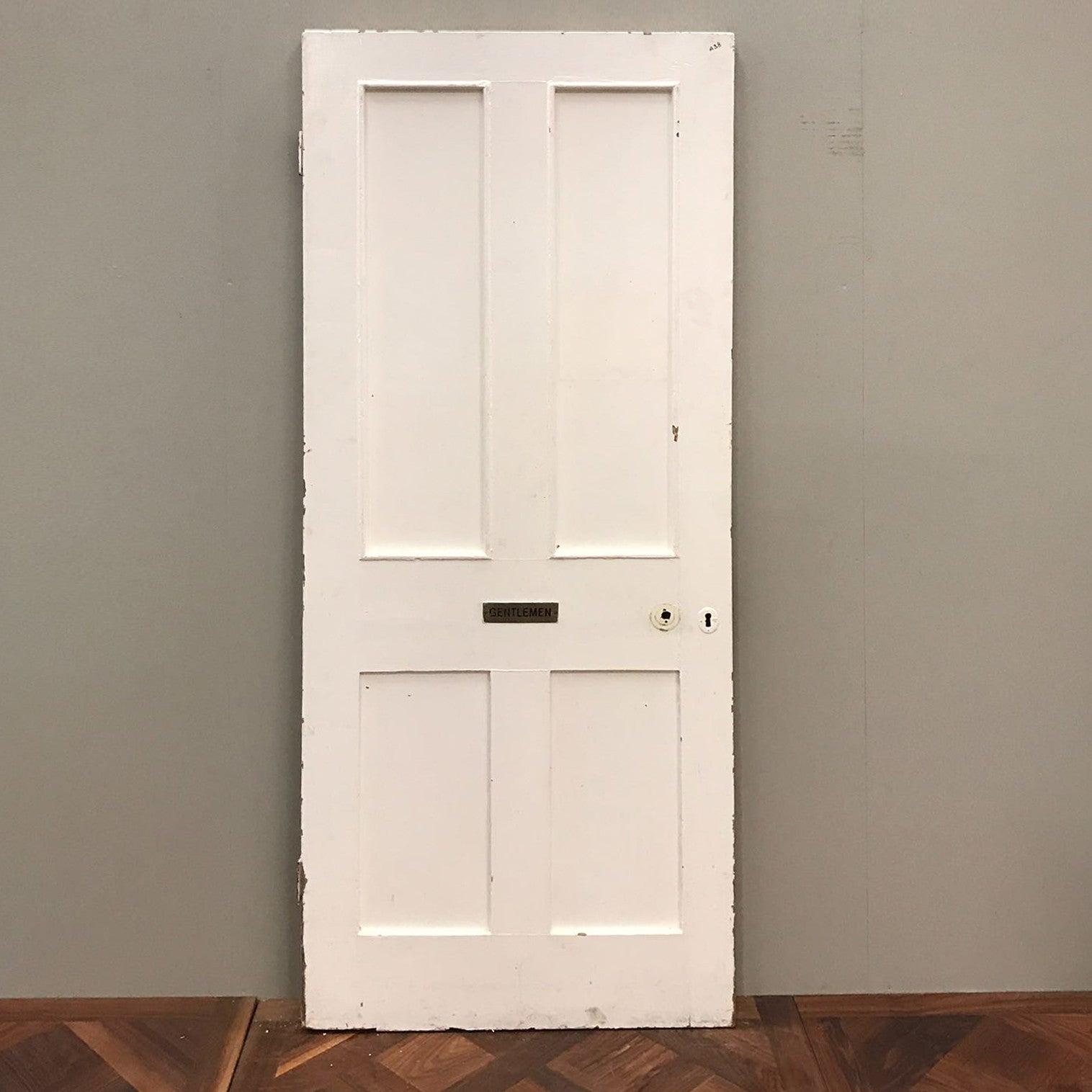 Reclaimed Victorian Four Panel Door - 200cm x 80cm x 5cm - architectural-forum