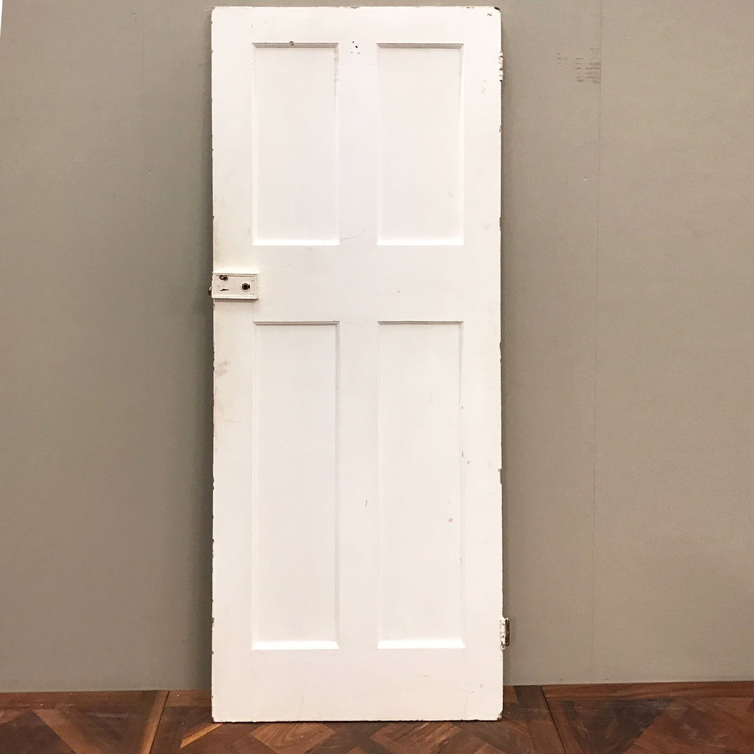 Reclaimed Victorian Four Panel Door - 192cm x 75cm x 3.5cm - architectural-forum