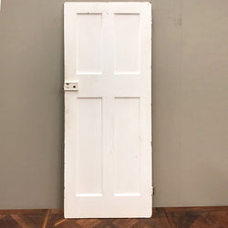pine door with brass fingerplate