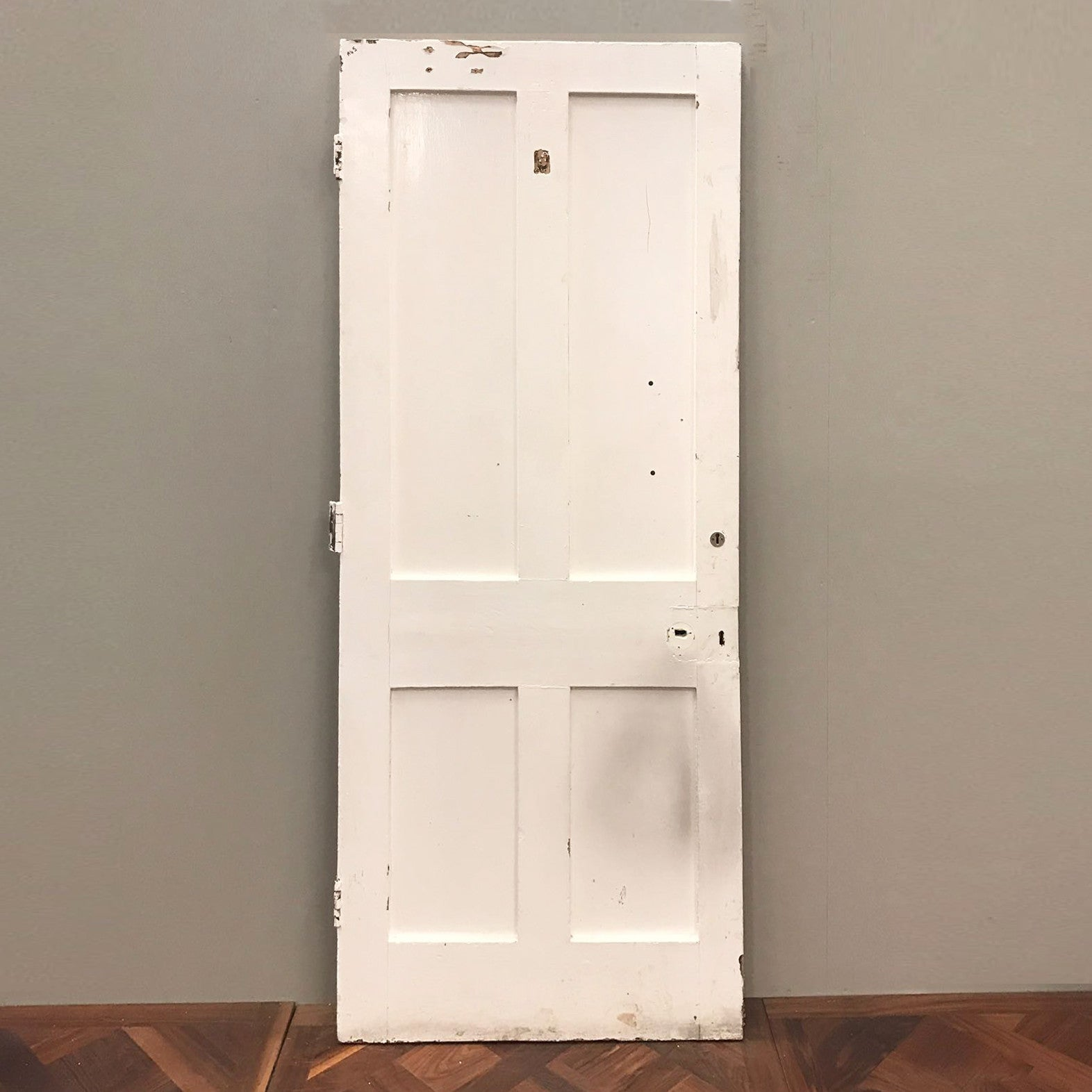 Reclaimed Victorian Four Panel Door - 205cm x 84.5cm x 5cm - architectural-forum